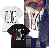 Wholesale High Fashion Clothing For Men - 2017 summer VLONE A$AP ASAP Rocky kanye west clothing cotton short sleeve t-shirt tee for men and women High quality