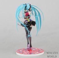 Wholesale Miku Hatsune Figurine - Anime Approx 21cm Hatsune Miku Tell Your World Ver Figurine PVC Action Figure Model Toys Kids Gift Free Shipping