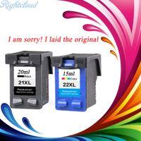 Wholesale Deskjet Cartridges - 2 Pcs Ink Cartridge for HP 21 22 XL For HP cartridges 21 and 22 for HP Deskjet 3915 D1530 D1320 F2100 F2280 F4100 F4180 printer