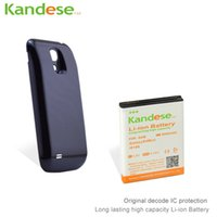 Wholesale Cover Protection For Galaxy S4 - Extended Battery Bateria For Samsung Galaxy S4 Mini i9190 6000mah Original Kandese Decode IC Protection High Capacity With Cover