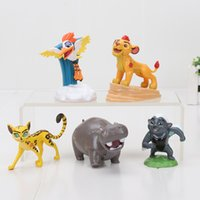 Wholesale Statue Figurines - 5pcs set The Lion Guard Lion King Kion PVC Action Figures Bunga Beshte Fuli Ono Animals Figurines Dolls Statue Kids Toys Gift