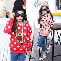 Wholesale 13 Years Kids Clothes - Wholesale- 2016 New Kids clothes Girls hooded sweater children sweater baby girls warm winter child-clothing 3-13 years baby clothing pink