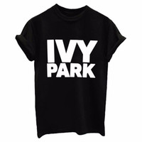 Wholesale IVY PARK Women Men T shirt Cotton Casual Funny Loose White Black Tops Tee Hipster Street New