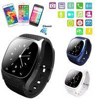 m26 smartwatch großhandel-Smart Uhr M26 Bluetooth Q18 DZ09 Smartwatch drahtlose wasserdichte Sportuhr mit LED Alitmeter Music Player Schrittzähler für Apple Android