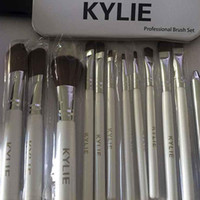 Wholesale professional makeup tool box for sale - Kylie Makeup Brushes set Professional Eyeshadow Brush Set Foundation Powder Beauty Tools Cosmetic Brush Kits with Retail Box
