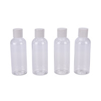 Wholesale Cosmetic Beauty Containers Wholesale - Wholesale- 100ml 4PCS Plastic Bottles For Travel Cosmetic Make-up Lotion Container With Carry Bag Make Up Bottle Women Beauty Tools