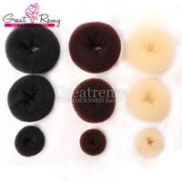coiffure chignon donut achat en gros de-3pcs / lot Nouveau rouleau de cheveux Beauté Easy Bun pour donut cheveux bande corée style extension de cheveux disque greatremy