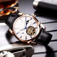 Wholesale Moon Watch Design - Baselworld New Tourbillon Luxury Mens Watches Top Imported Hollow Automatic Mechanical Movement Moon Phase Design Luxury Wristwatches