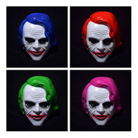 Wholesale party supplies clown - Dark Knight Anime Film Mask Full Face Resin Horror Clown Cosplay Mask Halloween Party Supplies Cosplay Costume Decoration IC535