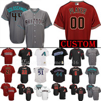 Wholesale Black Paul Goldschmidt Jersey - 44 Paul Goldschmidt Custom Arizona Diamondbacks Baseball Jersey 51 Randy Johnson Jake Lamb Zack Greinke Descalso Peralta ROBINSON Jerseys