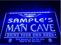Wholesale Name Led - tm07 Name Personalized Man Cave Cowboys Bar LED Neon Beer Sign
