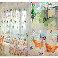 Ivolador Room Divider Butterfly Sheer Curtain Panel Window Балкон Tulle 78,7 дюйма x 39,4 дюйма