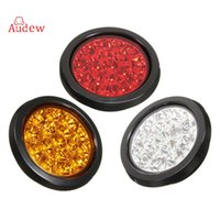 1Pcs 16LED Car Truck Round LED Reflector Rear Tail Light Luzes de advertência Rear Brake Stop Light impermeável