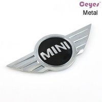 Wholesale Car Emblems Stickers Bmw - Car Styling 3D Metal Logo Stickers for bmw accessories Mini copper clubman R50 R51 R56 Car Emblems Badge Car Stickers