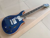 Wholesale Electric Arch - Wholesale- High Quality P Custom Electric Guitar with Quilted Maple Top&Back, Arched Top & Back, F Holes, Semi-Hollow Body guitar