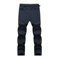 Wholesale Pants Gore Tex Xxl - 5XL 2017 Men's Winter Softshell Inner Fleece Pants Outdoor Sports Waterproof Skiing Trekking Hiking Camping Male Trousers VA056 XX010
