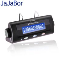 Wholesale Caller Id Kit - Wholesale- JaJaBor Bluetooth Car Kit Handsfree Sunvisor Wireless Car Speaker MP3 Player Large Screen With Caller ID Sync Phone Book Display
