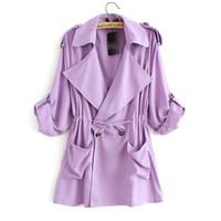 Wholesale Trench Coat For Women Pink - Autumn Fashion Coat Women Long Sleeve trench coat for women windbreaker women