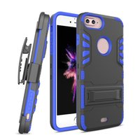 Wholesale Iphone 5s Holster - Kickstand Phone Case with Clip Holster Armor Cover for iphone 8 7 6s 6 5s plus Samsung Galaxy S8 Plus S7 edge OPP BAG