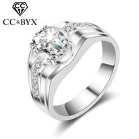 CC Jóias Midi Rings Moda para Homens Sterling 925 Silver Love Promise Oval Egg Shape Noiva Wedding Ring Engagement CC687