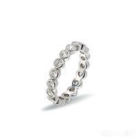 Wholesale Open Diamond Ring Flower - Elegant Wedding Rings White Gold Opening Adjustable Diamond Crystal Ring Fnger Flower Design Wedding Jewelry