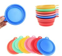 1000pcs / lot Dobrável Travel Water Dish Alimentador Dog Cat Pet Portable Feeding Bowl Multicolor dobrando pet alimentação bacia
