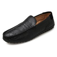 Wholesale Comfortable Mens Black Dress Shoes - Summer Breathable Mesh Shoes Mens Casual Shoes Genuine Leather Slip On Brand Fashion brands Summer Shoes Man Soft Comfortable