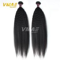 16 zoll yaki weben großhandel-Yaki Straight Virgin Haarverlängerungen 3 Bundles Menge unverarbeitete brasilianische Haarwebart 8-30 Zoll Top Qualität