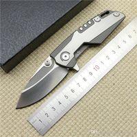 Wholesale whale tools - kai ge Whale Shark Design Tactical bearing Flipper folding D2 blade TC4 Titanium handle camp hunt outdoor survival knife tools