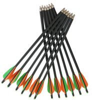 setas de carbono venda por atacado-12 peças de 17 polegada tiro com arco tiro caça besta de carbono misto setas 8.8mm mista de fibra de carbono besta parafusos