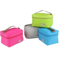 Wholesale Practical Small Portable Ice Bags Color Waterproof Nylon Cooler Bag Lunch Bag Leisure Picnic Packet Bento Box Food Thermal Bag