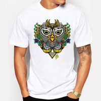 Camping Randonnée T-shirts Mignon anime Cartoon Animal Night Owl T-shirt hommes Amoureux Couple fitness T-shirt Tops T-shirts à manches courtes t-shirt homme