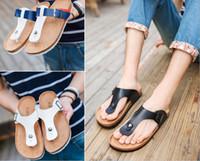 ingrosso stampare le donne piatta scarpe-Sandali dei sandali di sughero di modo di estate 2017 nuove donne degli uomini spiaggia casuale doppia fibbia stampata scivolare su diapositive scarpa piatta più dimensioni