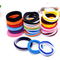 Wholesale Party Wholesale Hair Pieces - Good A++ Striped large towel hair ring hair rope seamless high hair ornaments FQ072 mix order 100 pieces a lot
