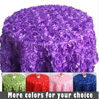 Wholesale Tablecloths Wholesale For Weddings Free - Upscale Design 3D Rose Table Cloth 1.2 Meter Diameter Round Cake Tablecloths for Wedding Banquet Decor free shipping