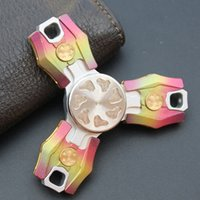 Wholesale Wholesalers 688 - Luxury Russian CKF 1.5 Metal Fidget Spinner CNC Brass SUS Al Tri-spinner 688 Ceramic Bearing EDS Metal Hand Spinners Decompression Toys
