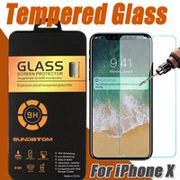 Wholesale Boxed Screen Guards - Tempered Glass Screen Protector Film Guard 2.5D 9H Real Explosion For iphone X 8 7 Plus 6 6S For Samsung S8 S7 edge Note 8 With Retail Box