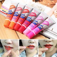 Wholesale lip tatoo - matte lipstick liquid lip tatoo pintalabios wow labiales peel off style my baby lips tint pack long lasting