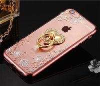 TPU Crystal Case New Luxury Phone Holder Bling diamante per Iphone 6 6S 6 Plus iphone 7 7 plus con cavalletto DHL
