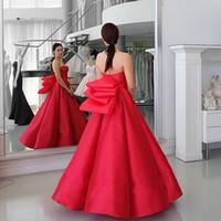 Wholesale black viscose dress - Sweetheart 2017 Elegant Prom Dresses Puffy Skirt Red Peplum Sleeveless Floor Length Beach Vintage Party Dresses