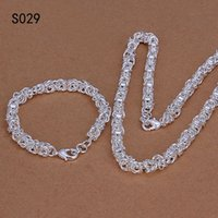 Wholesale cheap halloween skeletons - Hot same price sterling silver jewelry sets,cheap fashion 925 silver Necklace Bracelet jewelry set GTS3 factory direct sale