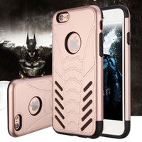 Wholesale Unique Cell Phone Covers - For iPhone 7 Phone Shell Cover Luxury Batman Design Hard PC + Soft TPU Unique Cell Phone Case Cover for iPhone 7 7 Plus