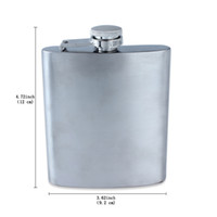 Wholesale Mini Hip Flasks - Fine Stainless Steel Hip Flasks Flagon Kettle Srinks 7OZ Portable For Men Hip Flasks Pocket Hot Sale