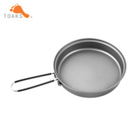 Wholesale Stainless Steel Cookware Sets - Toaks Titanium Frying Pan Cookware Set With Folding Handle Diameter 145mm Eco -Friendly Ultraight Titanium Pan Pan -145