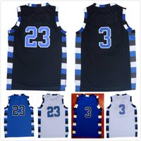 2017 Mens Cheap Throwback Basketball Maglie # 3 # 22 # 23 Nathan Scott Lucas Scoot One Tree Hill Film Tutto cucito camicia da basket