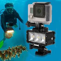 Wholesale Led For Gopro - Waterproof LED Light Diving High Power Dimmable Underwater Light for Gopro Hero 5 5S 4 4S 3+ 3 2 SJCAM SJ4000 SJ5000 Xiaomi Yi