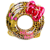 Wholesale Life Float Ring - 70CM Inflatable Pool Ring Leopard Butterfly Bow Swimming Circle Pool Floats Thicker Swim Ring Kids Life Circle 2 sizes