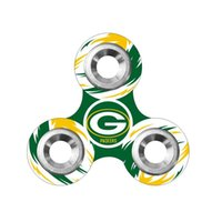 Plastique de football Prix-Equipe de football Fidget Spinners Plastic America Football Tri-spinner Famous Soccer Team Logo EDC Decompression Fidget Spinners Toy