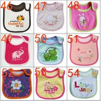 Wholesale Cute Baby Boy Picture - Cute newborn baby bibs Burp 100% cotton infant for little girls boys bibs with a picture of animals from cartoons Baby saliva Towels