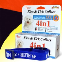 Wholesale Tick Collars For Dogs - 10 pcs Adjustable Flea&Tick Collar Health For Dogs and Cats Anti Flea Ticks Mosquitoes Elimination Nylon Collar 4 Months Free Shipping